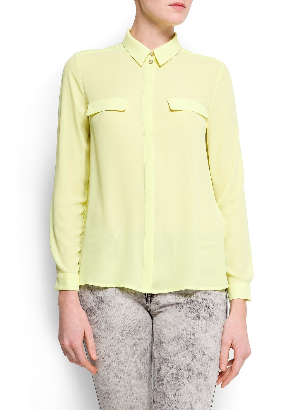 Loose-fit sheer blouse | MANGO