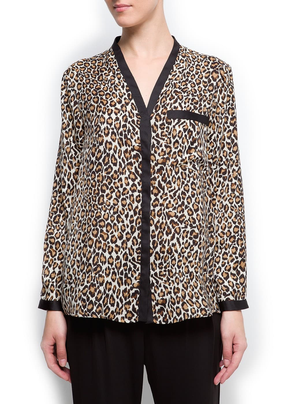 Animal print blouse | MANGO