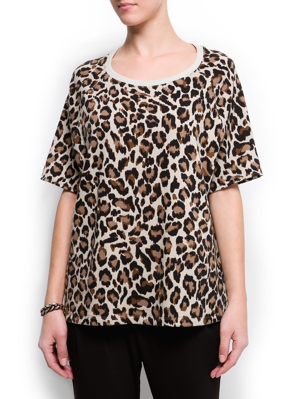 Animal print sweatshirt | MANGO