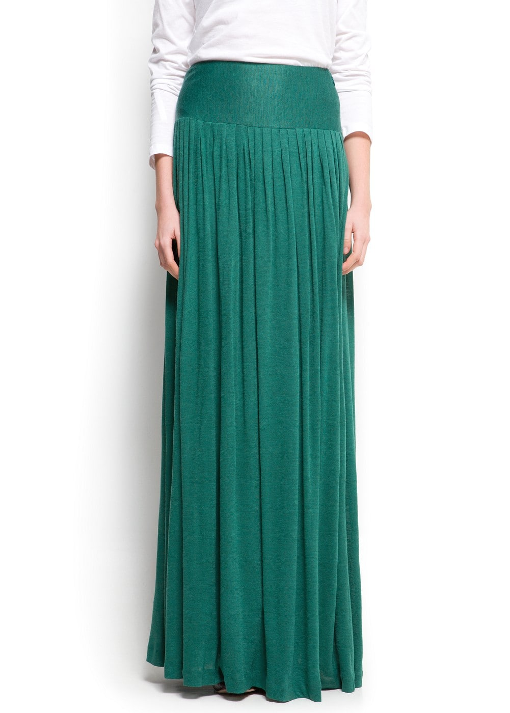Fine knit long skirt | MANGO