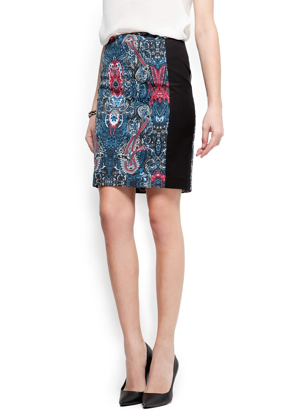 Printed panel skirt | MANGO