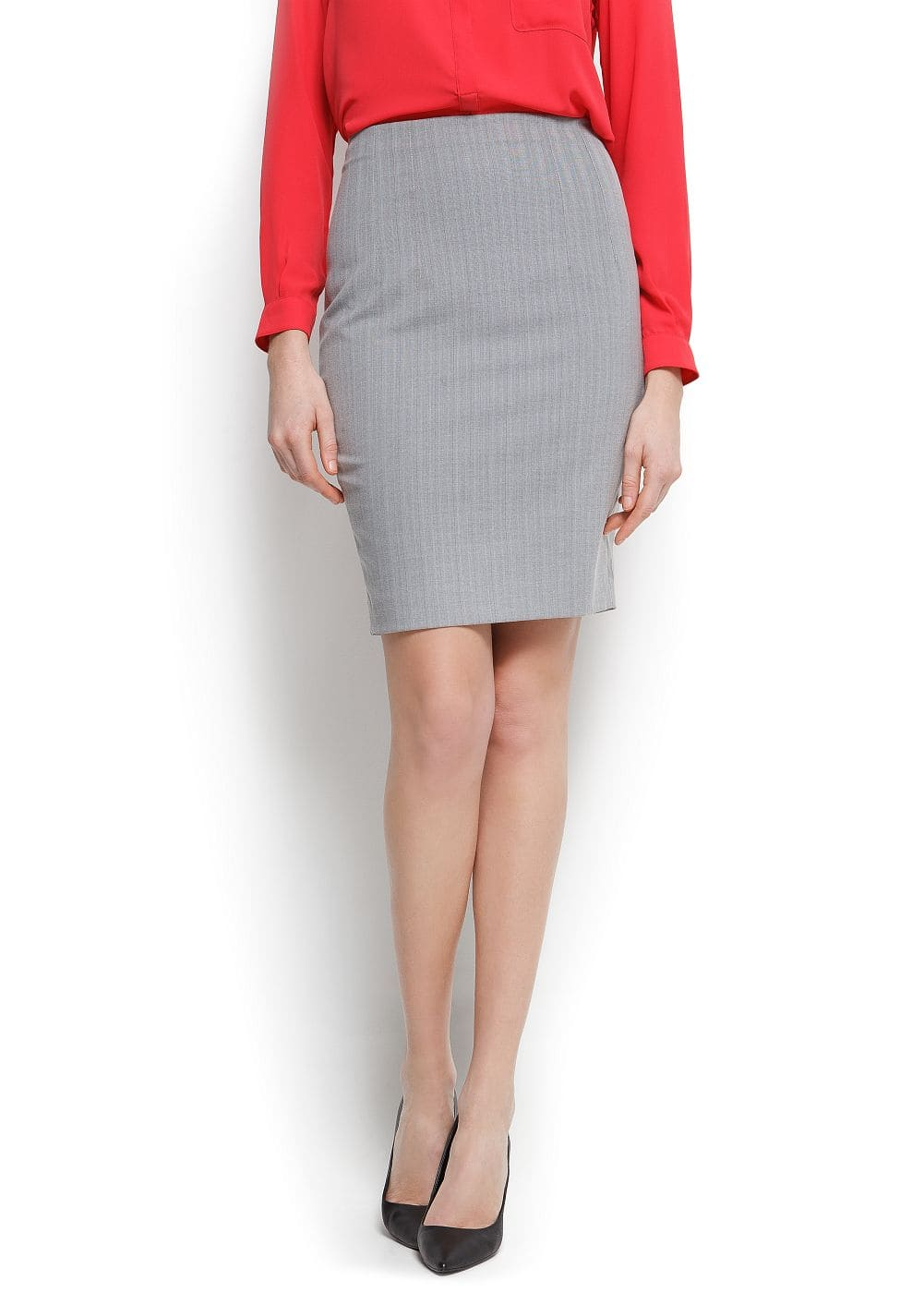 Stripped pencil skirt | MANGO