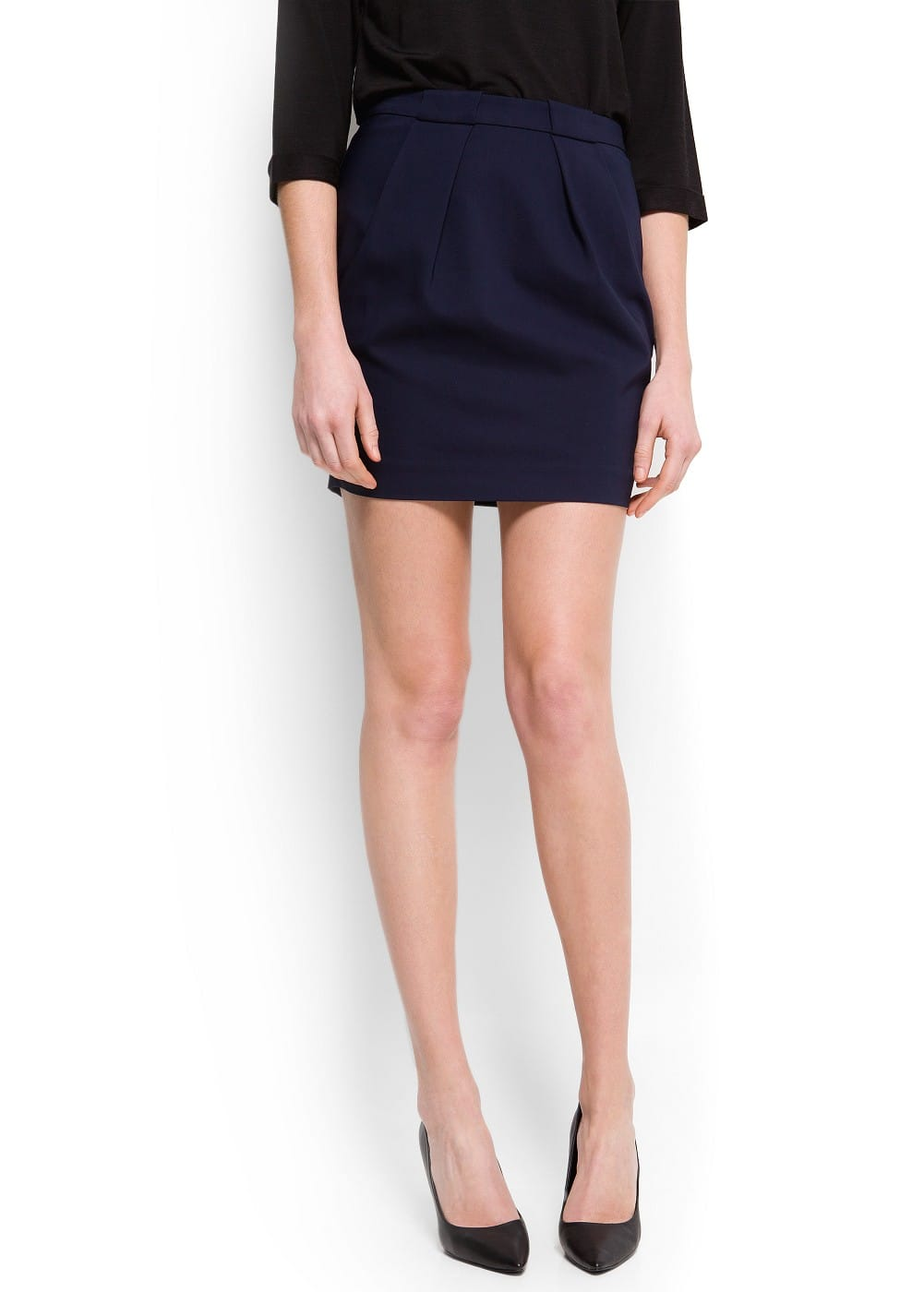 Double pleat miniskirt | MANGO
