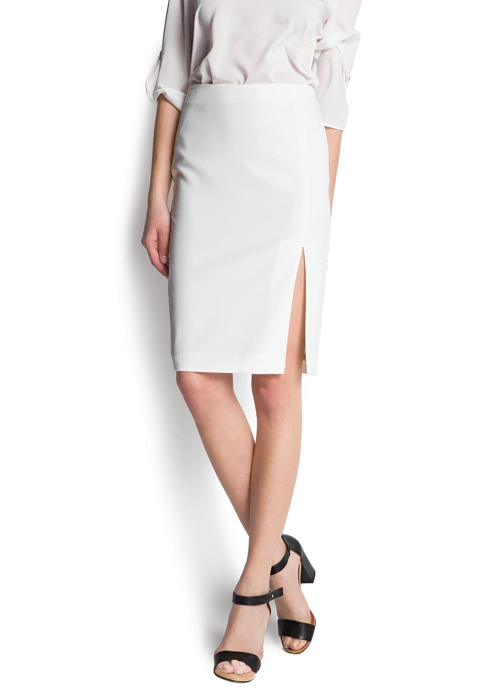 Slit pencil skirt | MANGO