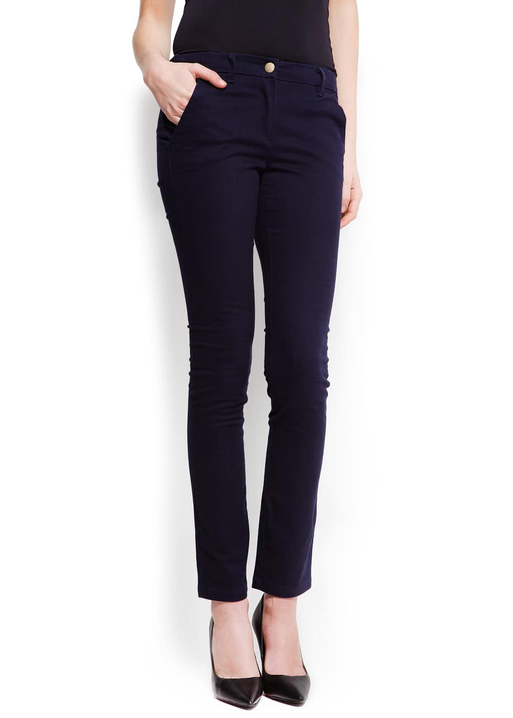 Straight-leg cotton trousers | MANGO