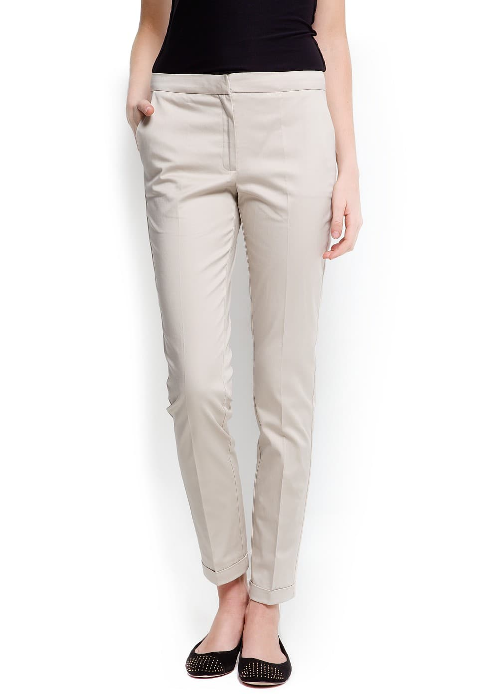 Tailored cropped trousers | MANGO