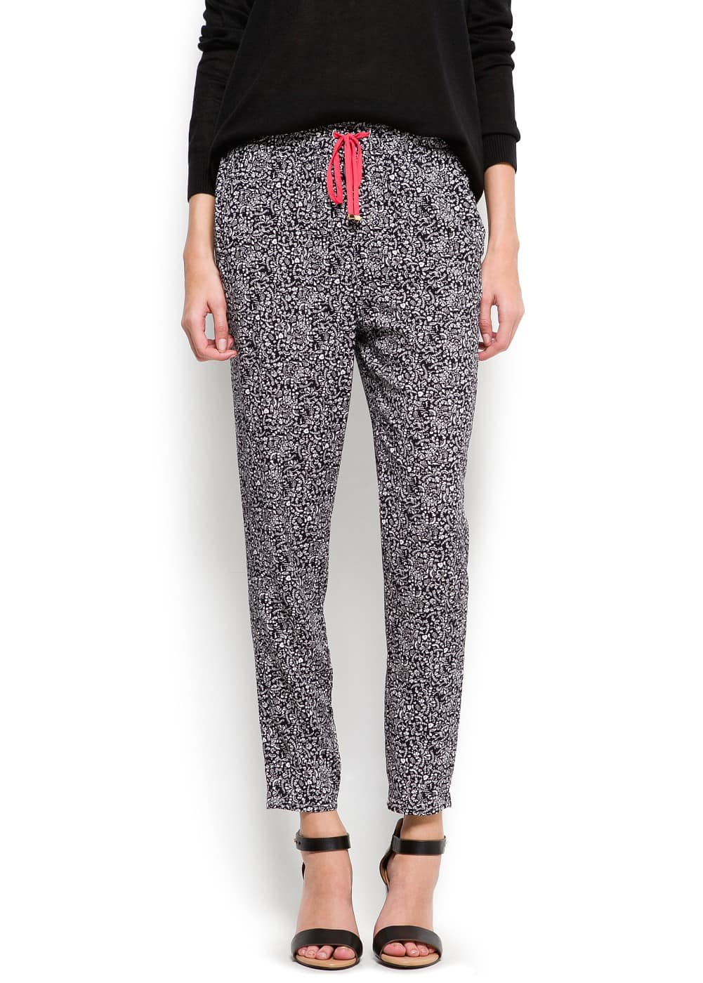 Printed tapered trousers | MANGO