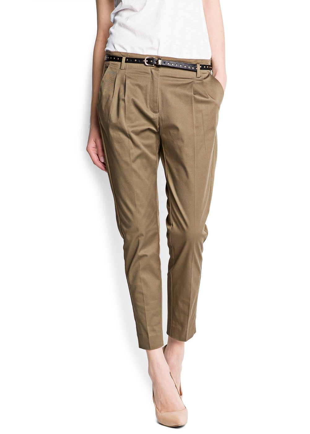 Tapered chino trousers | MANGO