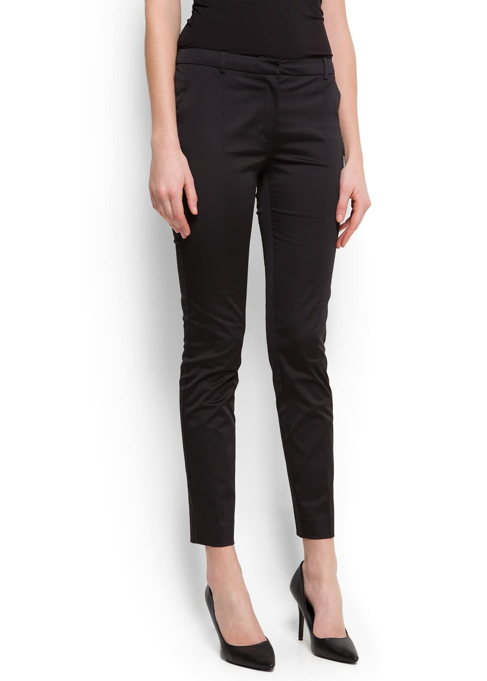 Satin suit trousers | MANGO