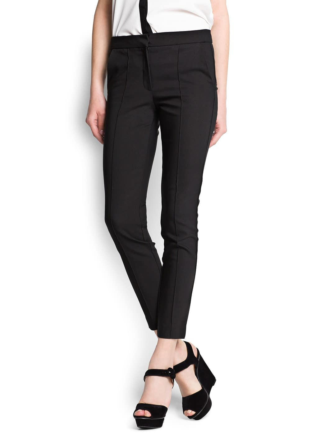 Suit straight-cut trousers | MANGO