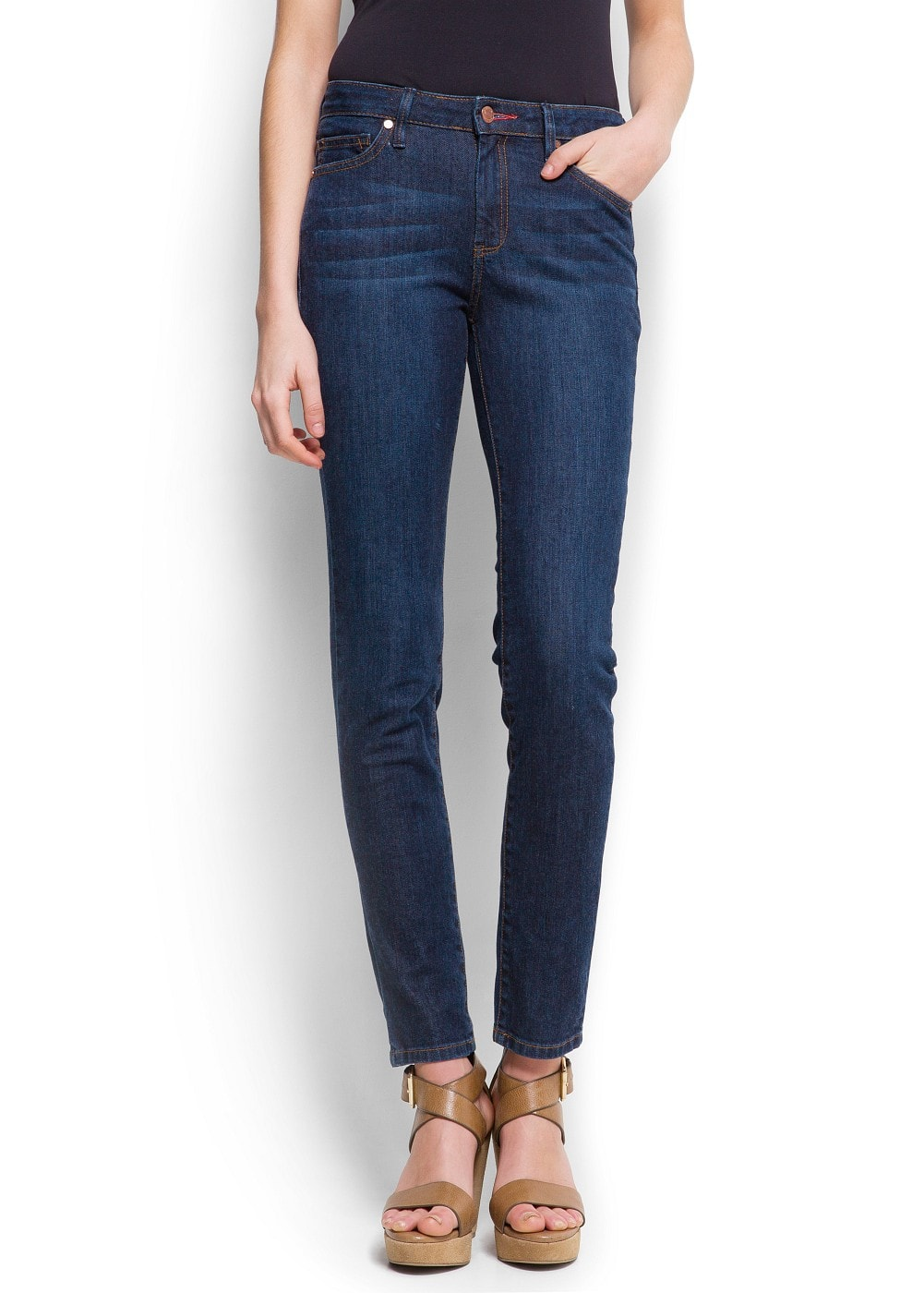 High-waist super slim jeans | MANGO