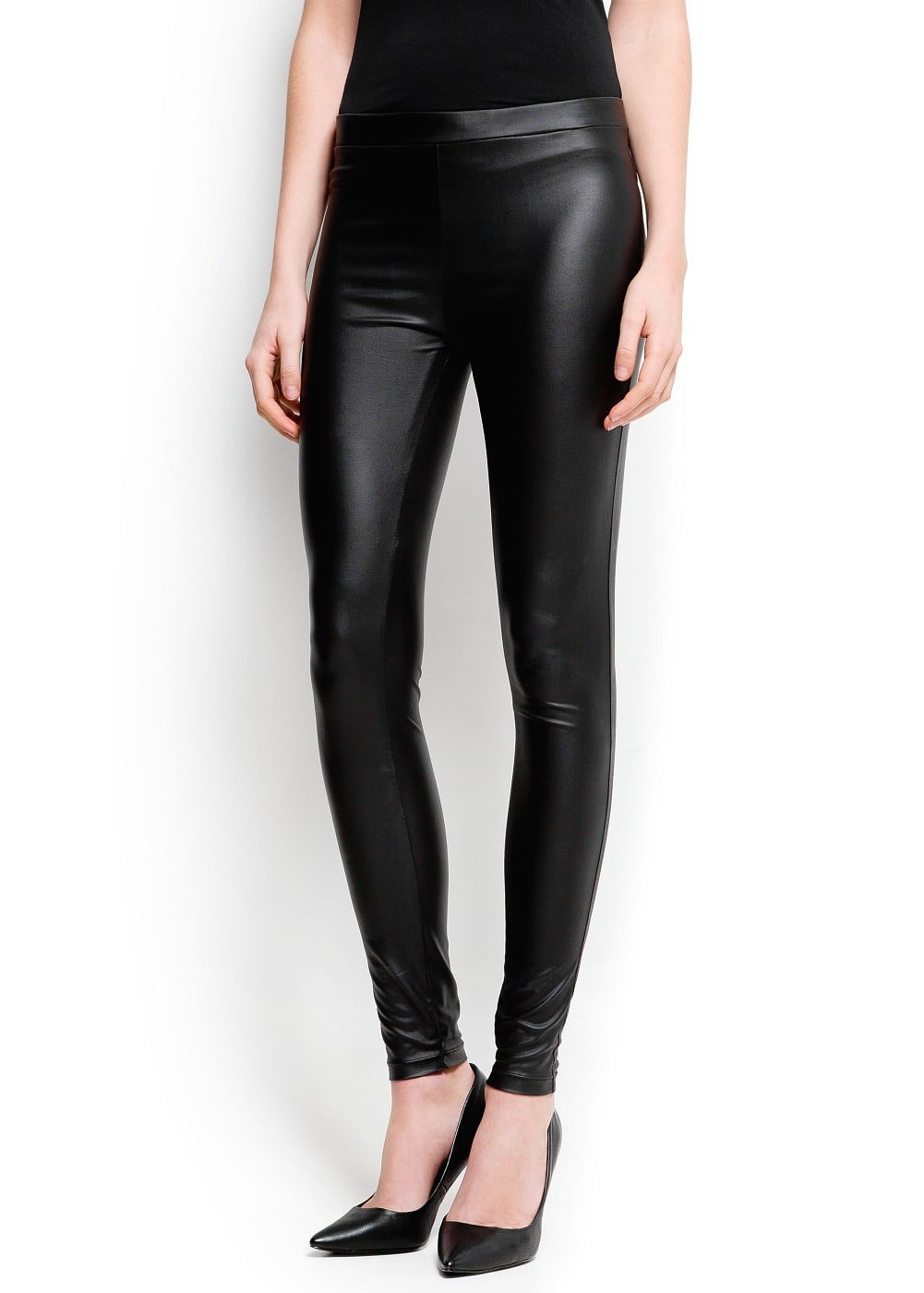 Coated leggings | MANGO