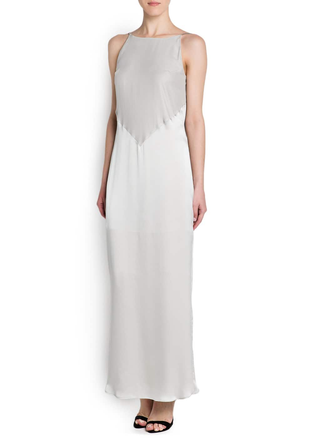Silk satin gown | MANGO