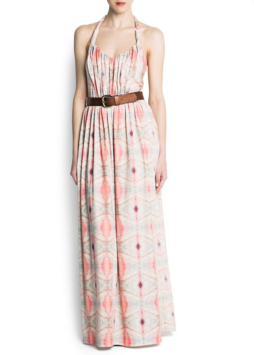 Long belt dress | MANGO
