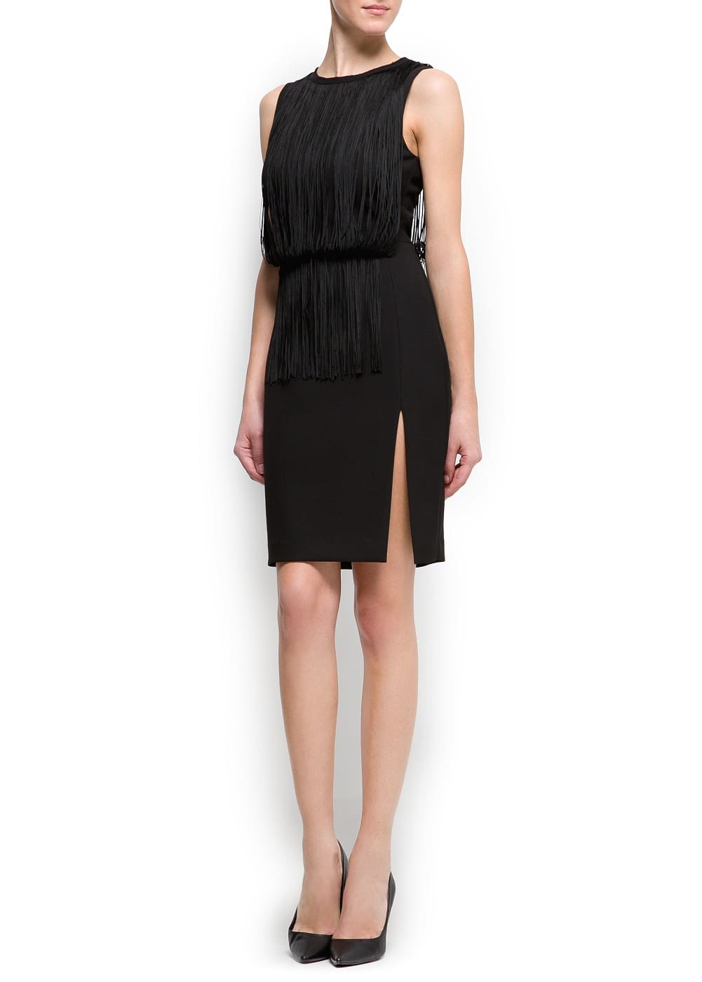 Fringed dress | MANGO
