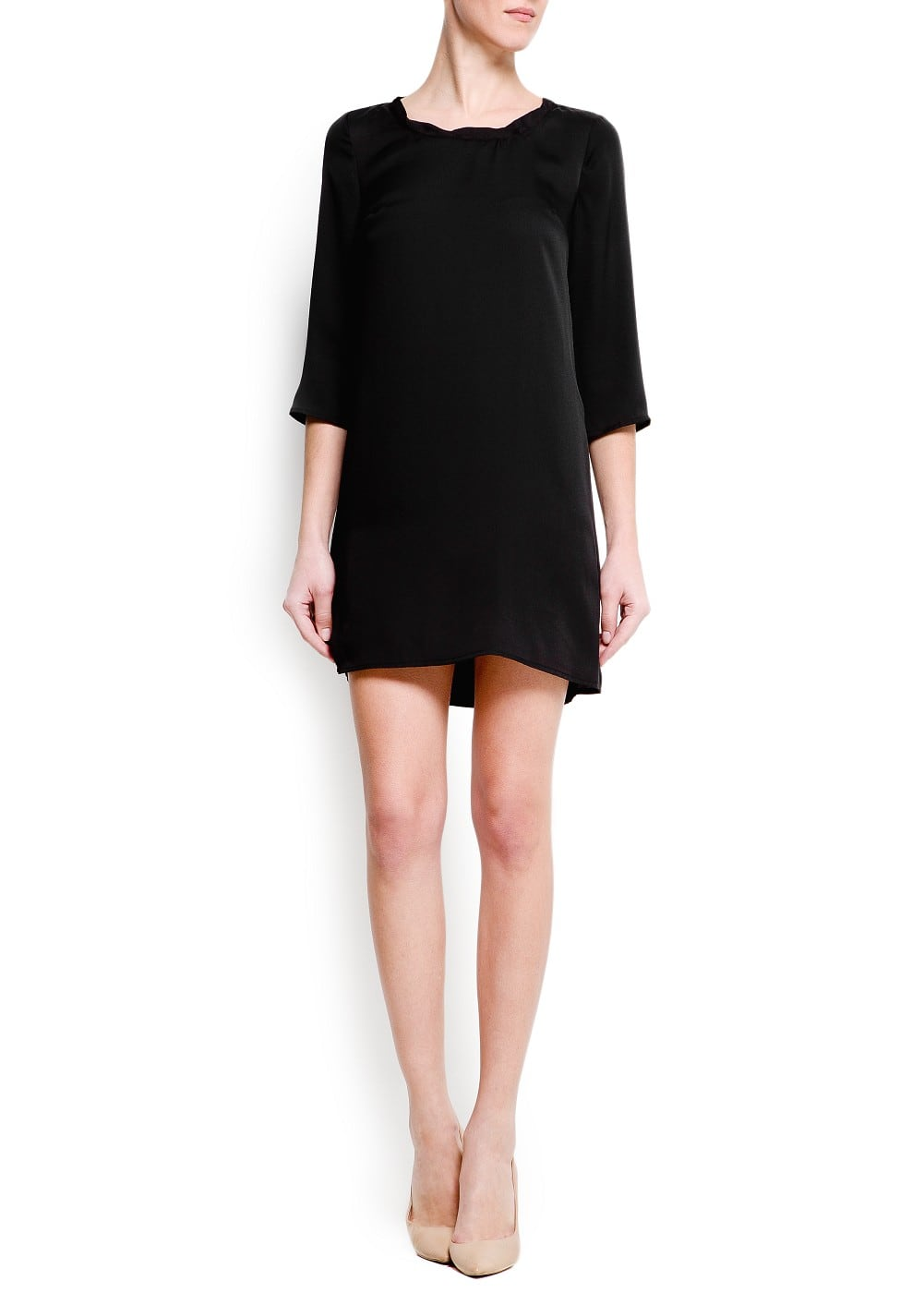 Pleated collar dress | MANGO