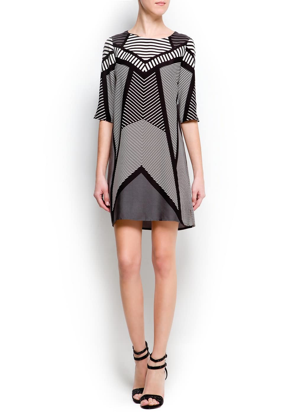 Op-art print dress | MANGO