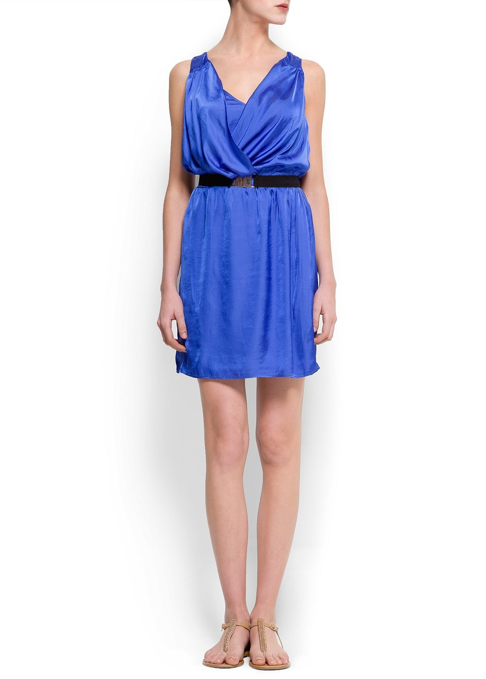 Draped satin dress | MANGO