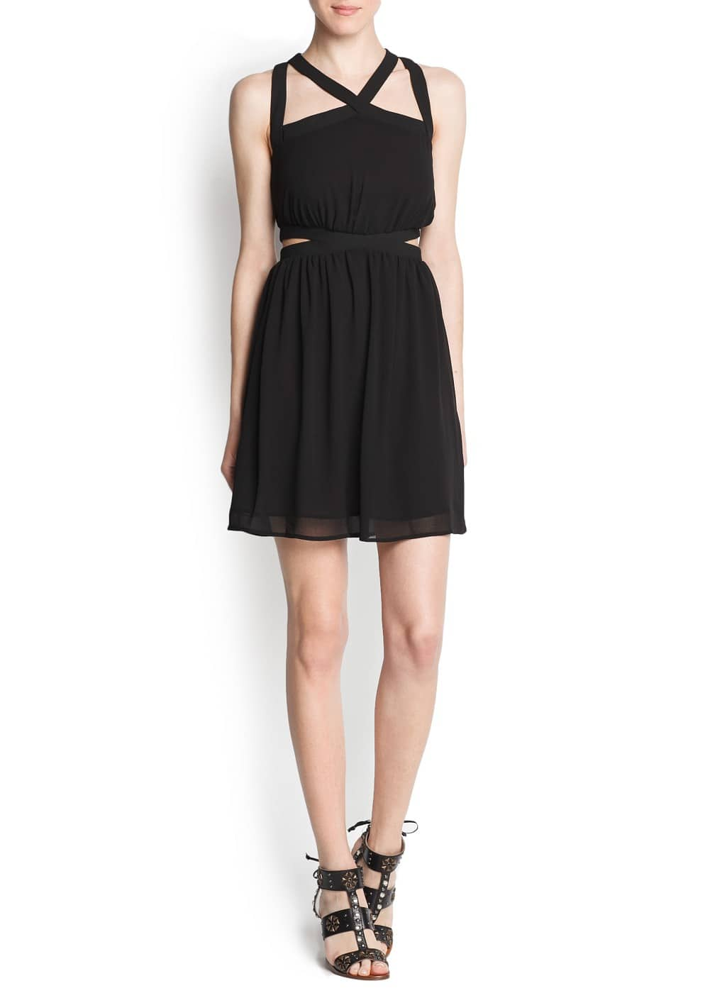 Criss cross straps cut out dress | MANGO