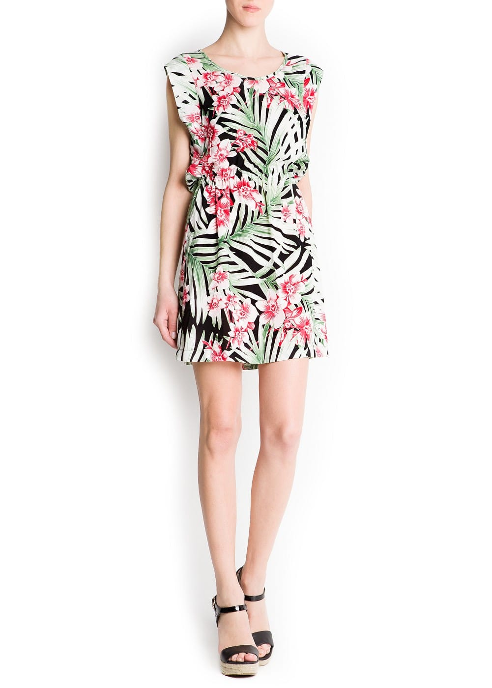 Print leafs dress | MANGO