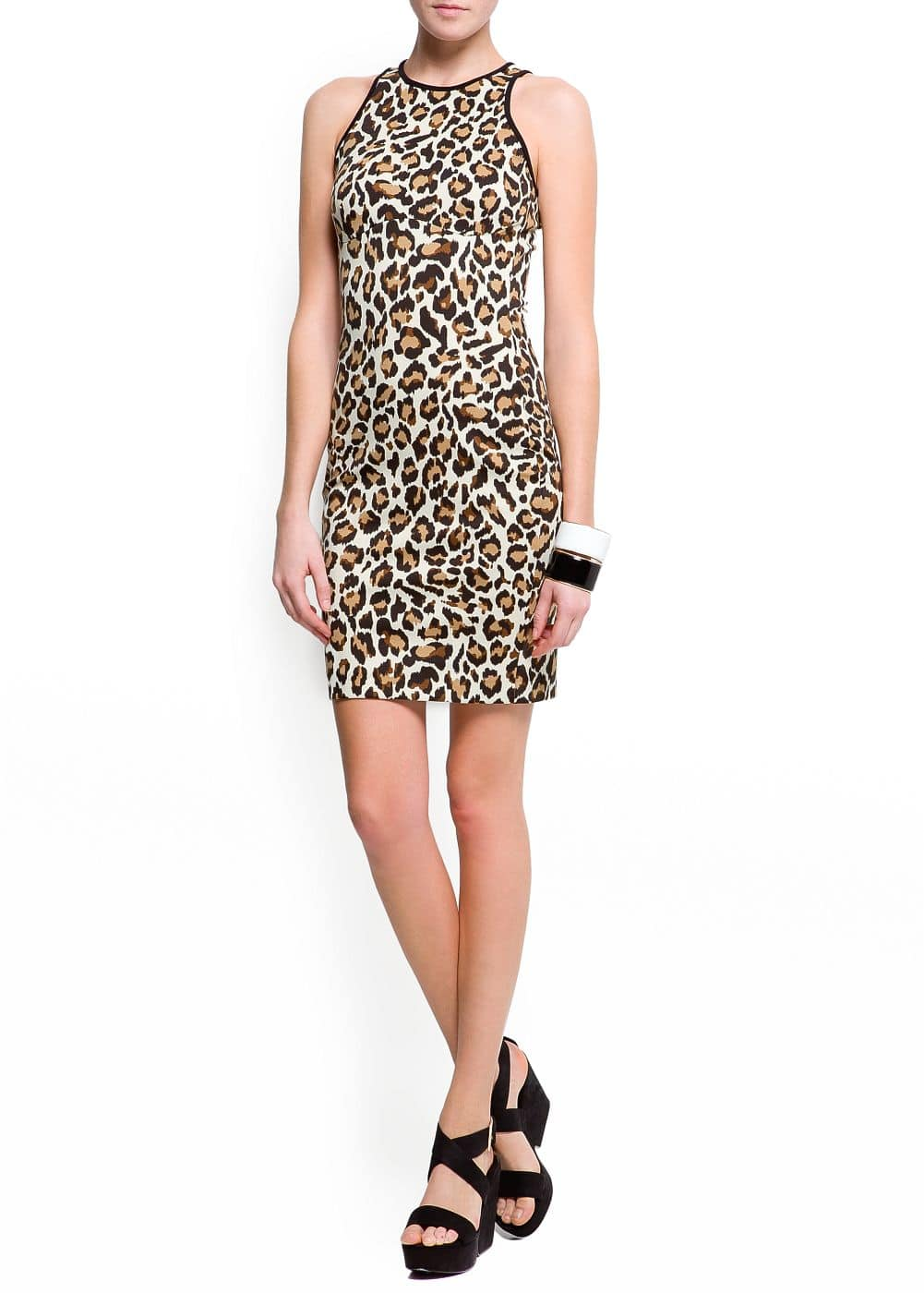 Animal print bodycon dress | MANGO