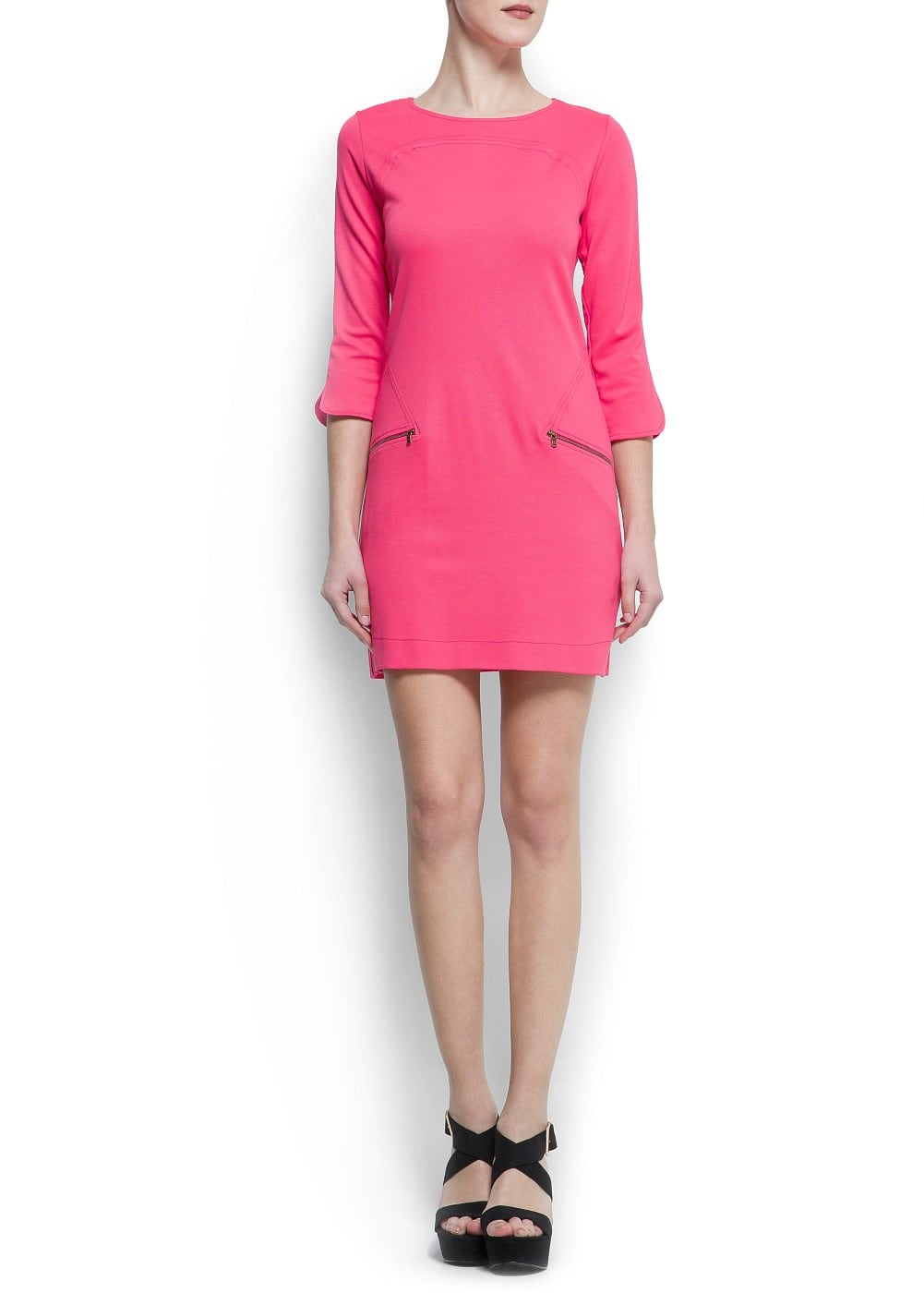 Zippers jersey dress | MANGO