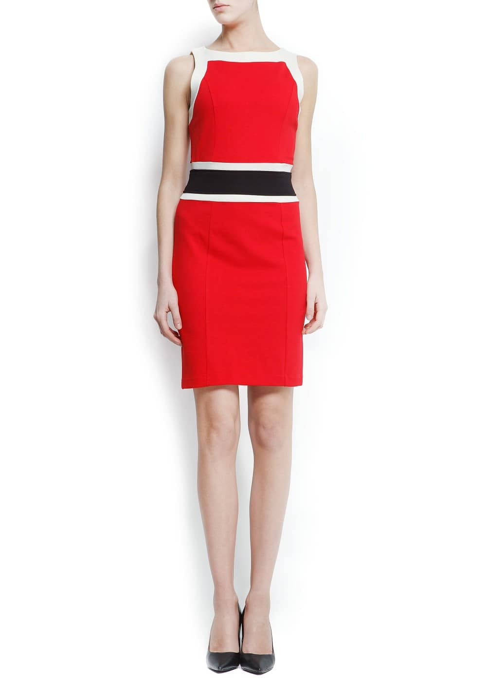 Colour block dress | MANGO
