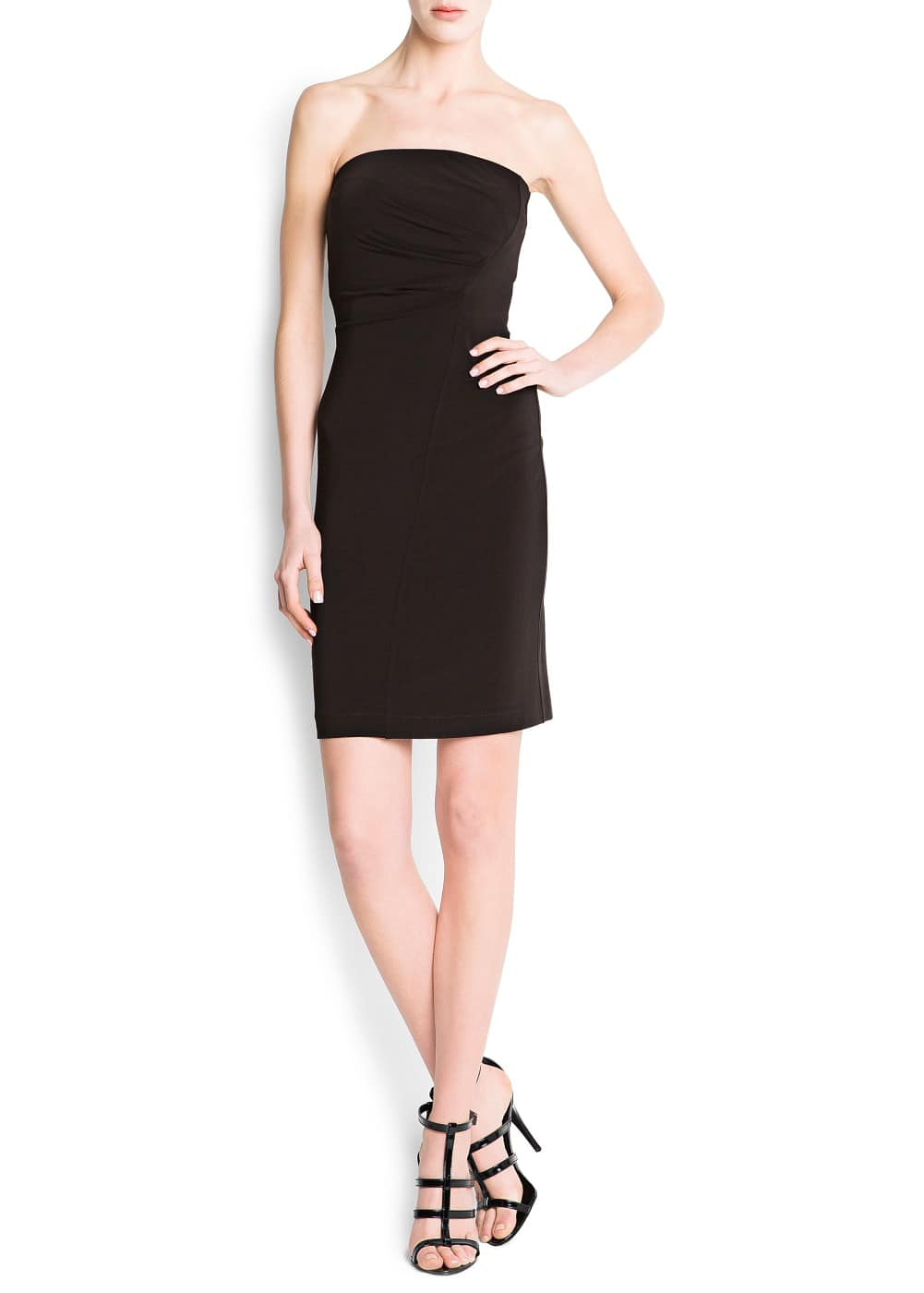 Strapless bodycon dress | MANGO