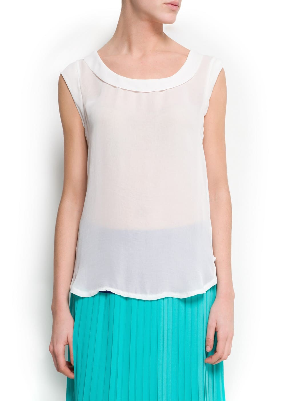 Sleeveless blouse | MANGO