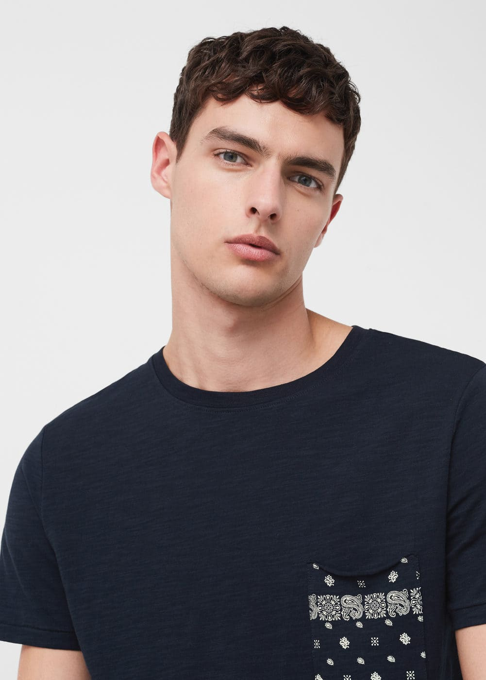 Printed pocket t-shirt | MANGO MAN