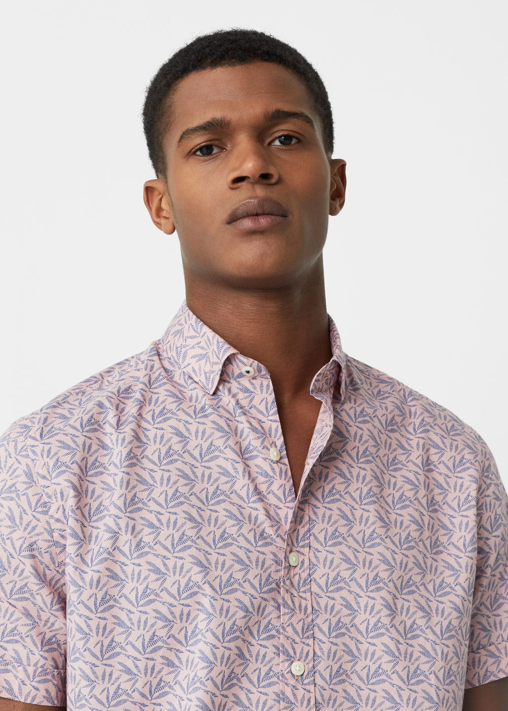 Slim-fit printed shirt | MANGO MAN