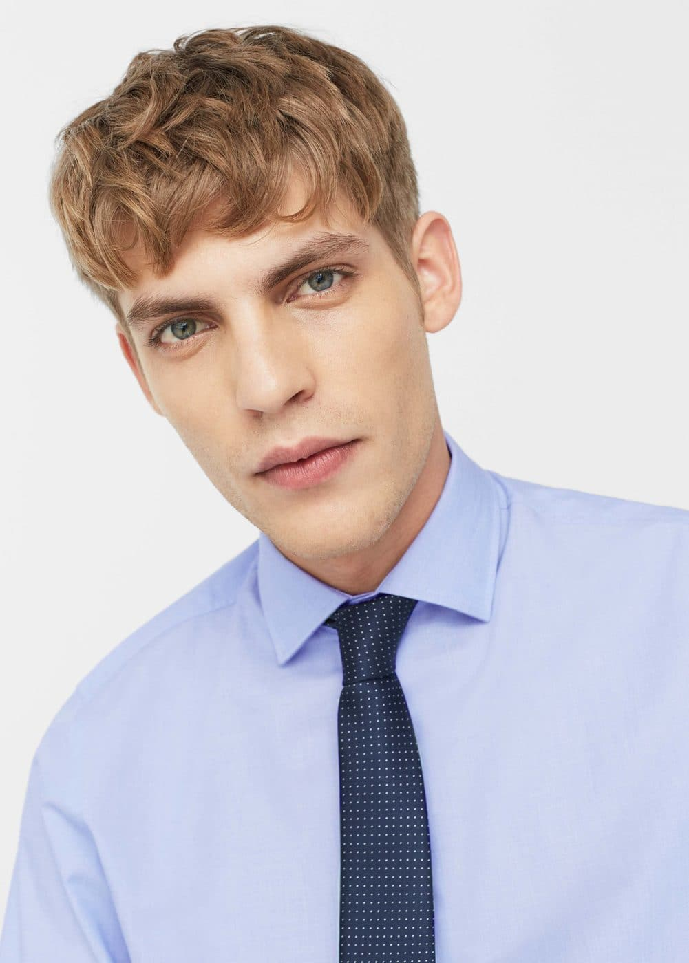 Camisa tailored slim-fit fil-à-fil | MANGO