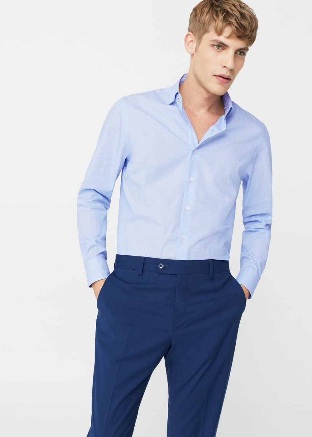 Camisa tailored slim-fit estructura | MANGO MAN