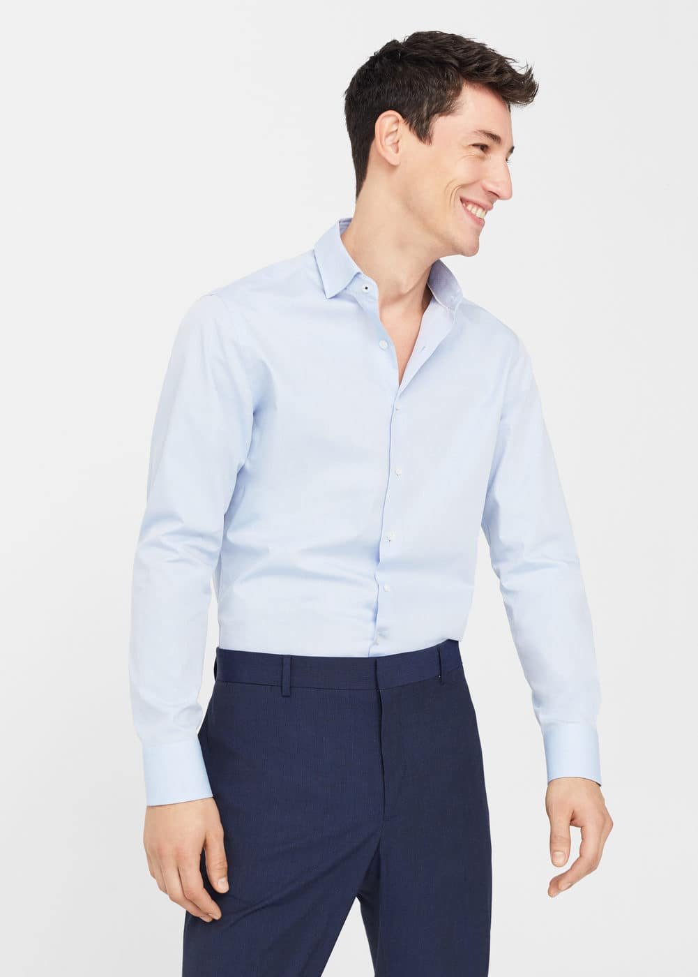 Camisa tailored slim-fit estrutura | MANGO