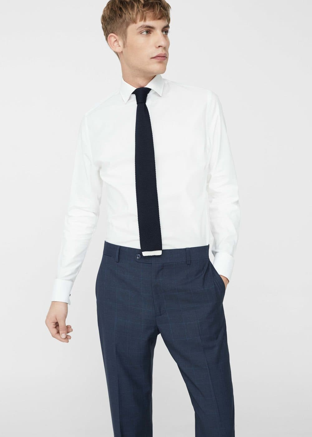 Slim-fit tailored cotton shirt | MANGO