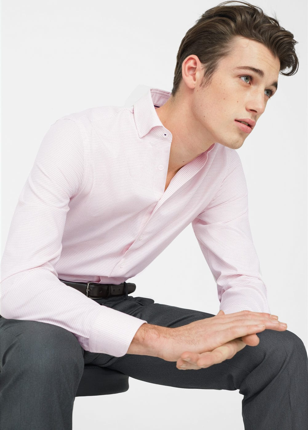 Slim-fit tailored textured shirt | MANGO