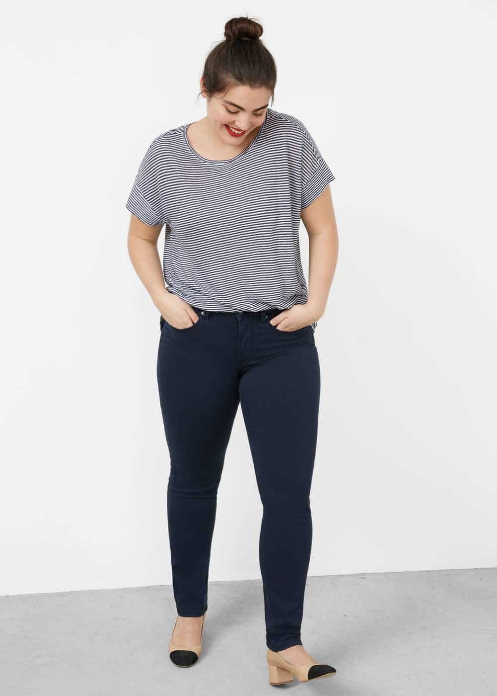 Slim-fit julie jeans | VIOLETA BY MANGO