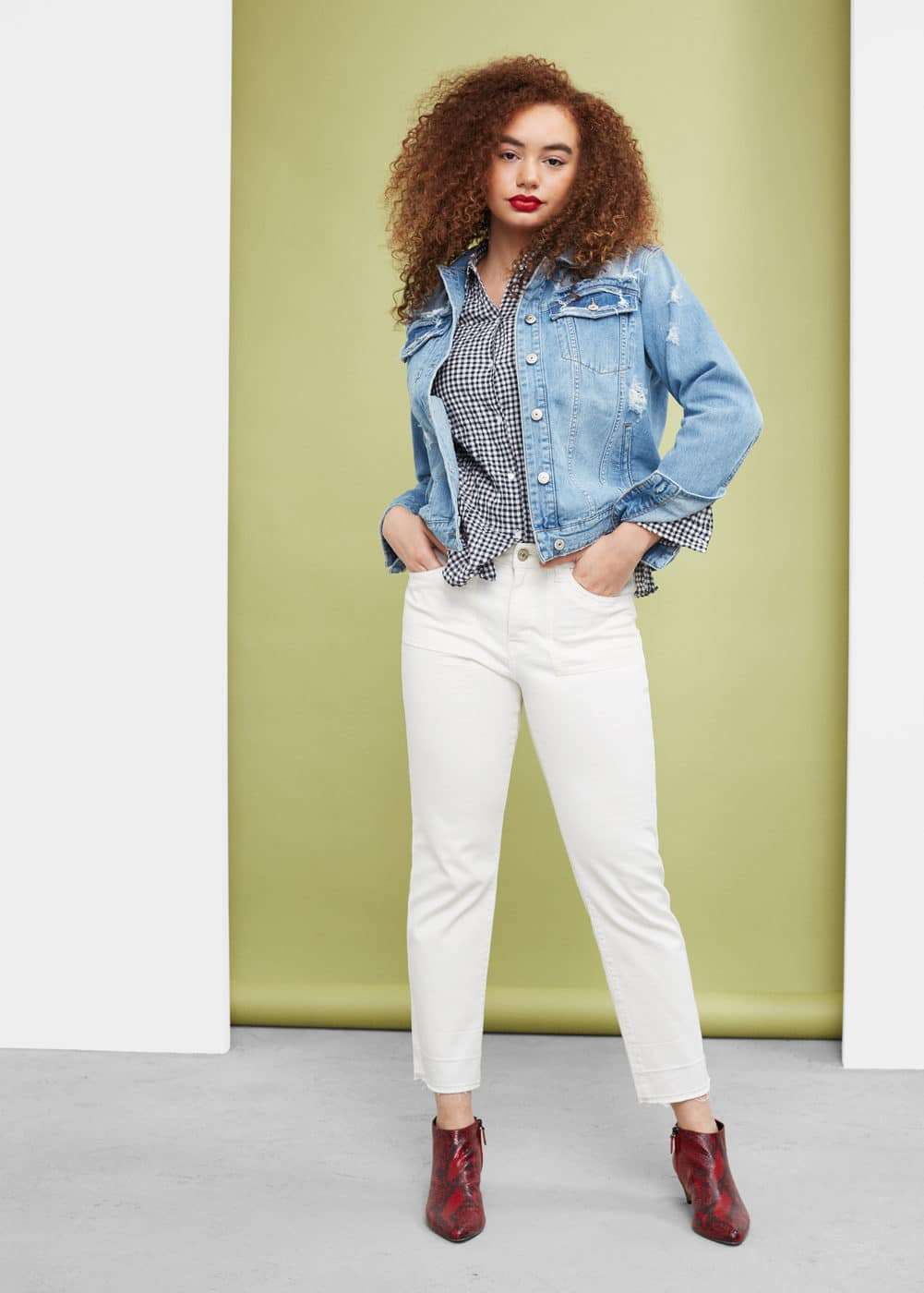 Straight bruna jeans | VIOLETA BY MANGO