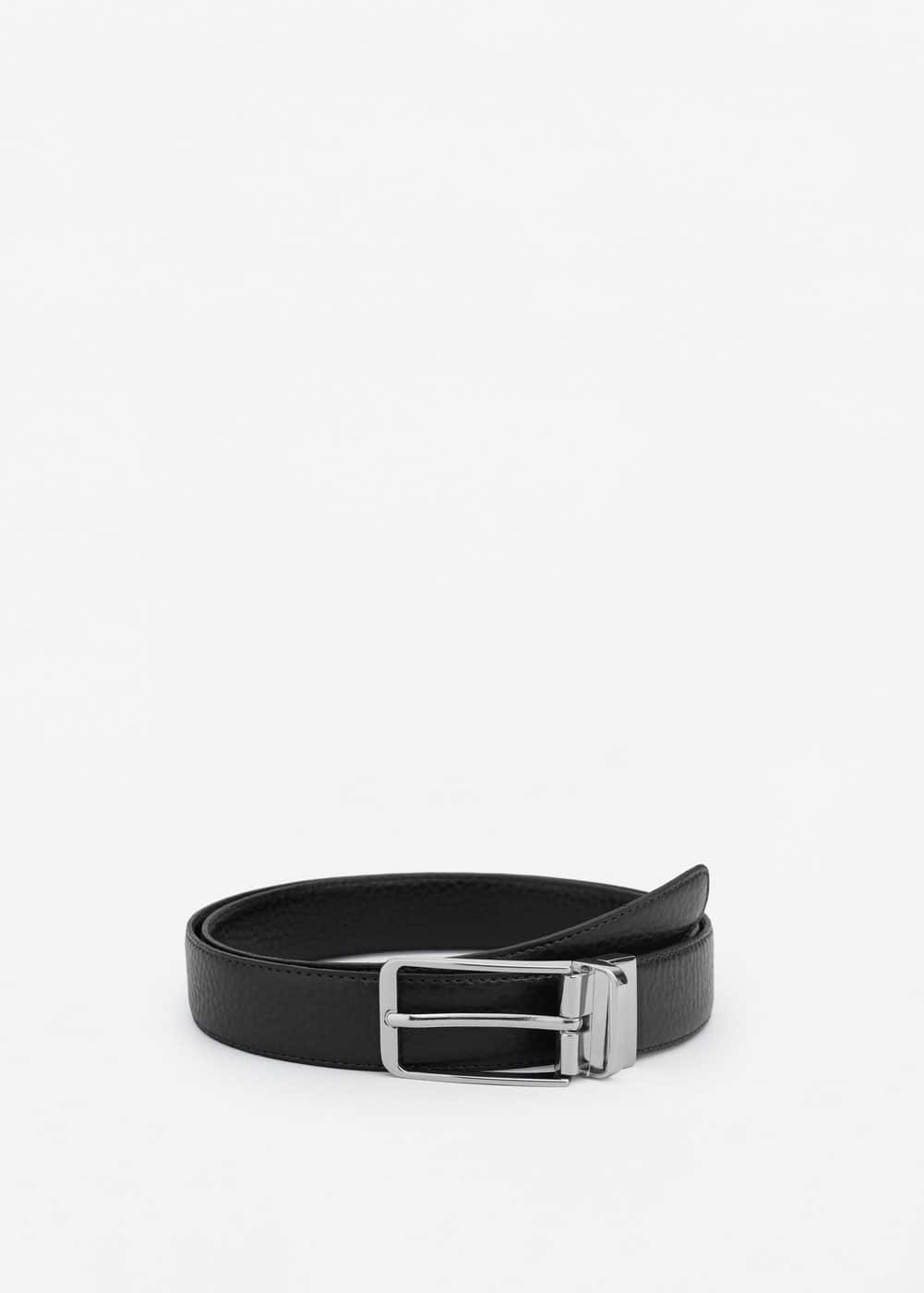 Reversible suit leather belt | MANGO MAN