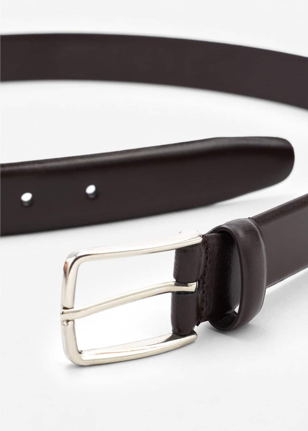 Leather suit belt | MANGO MAN