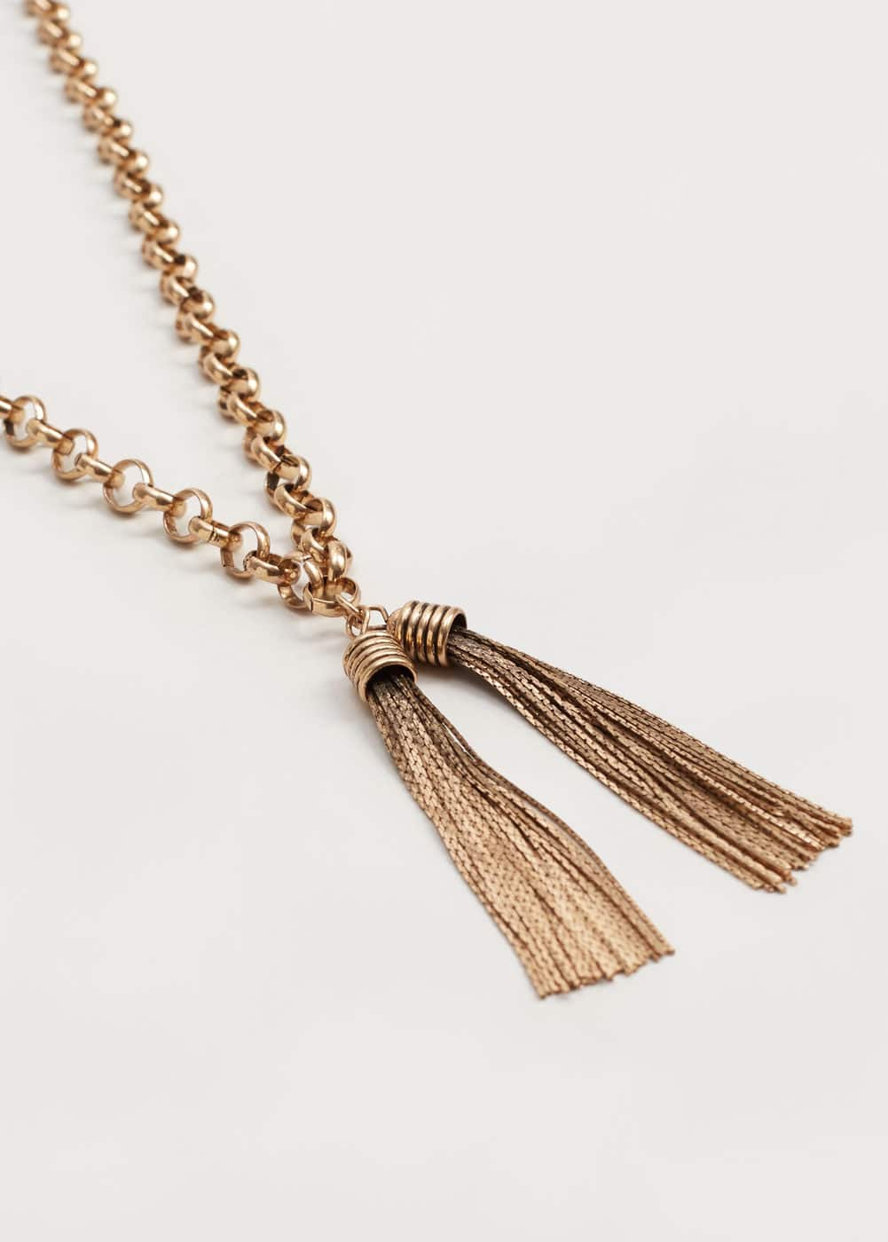 Metal tassel necklace | VIOLETA BY MANGO