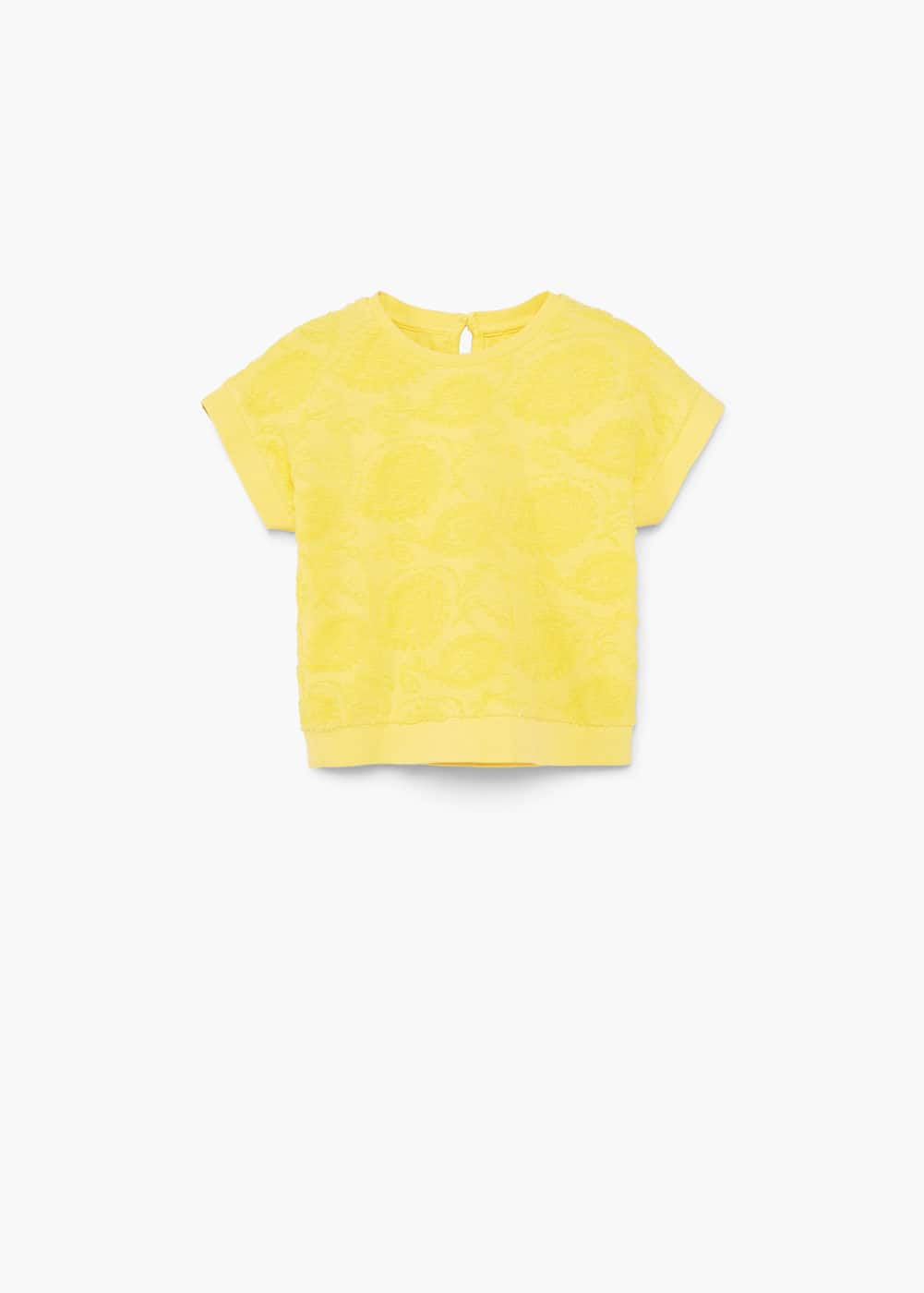 Textured cotton t-shirt | MANGO KIDS