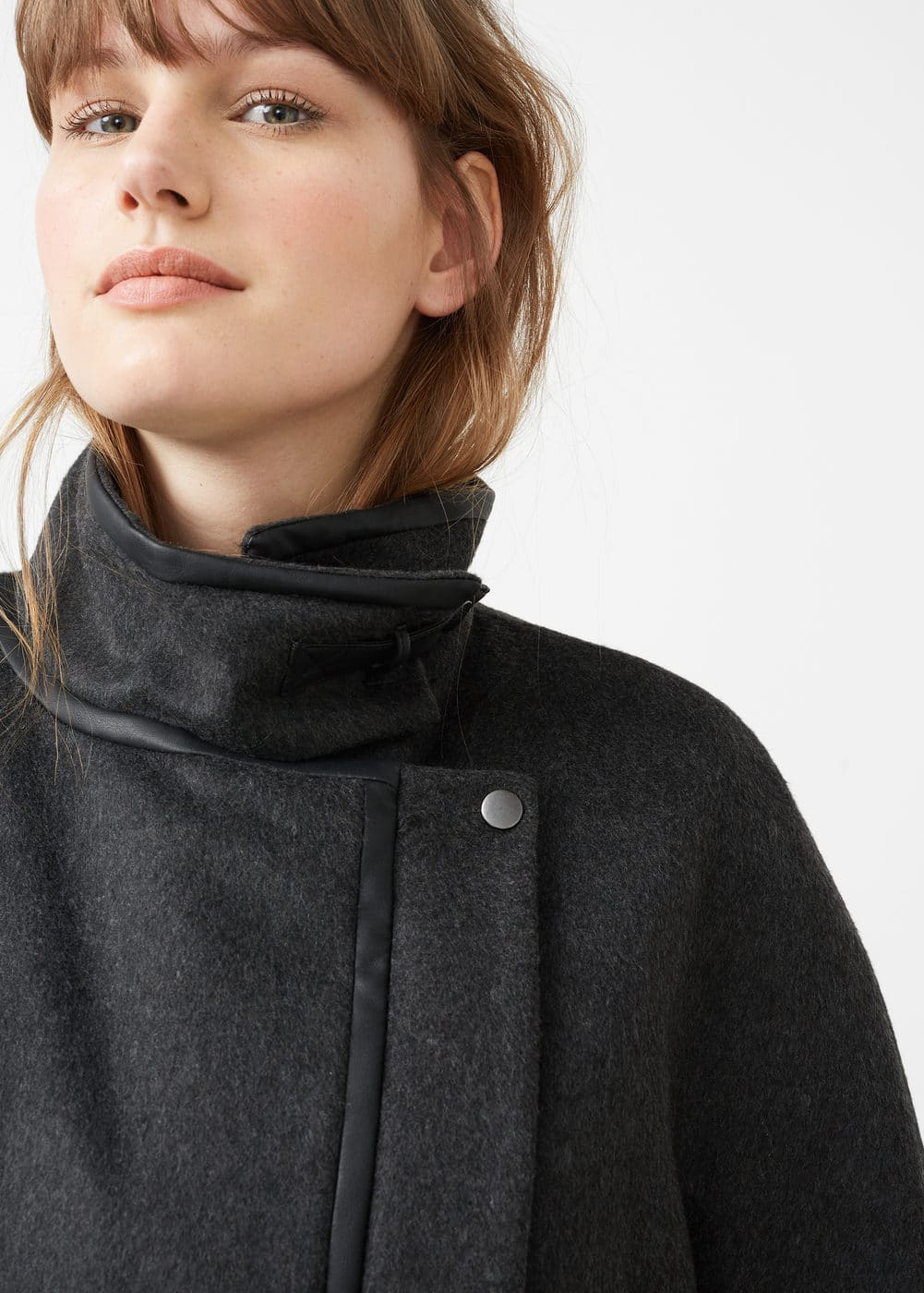 Unstructured wool coat | VIOLETA BY MNG