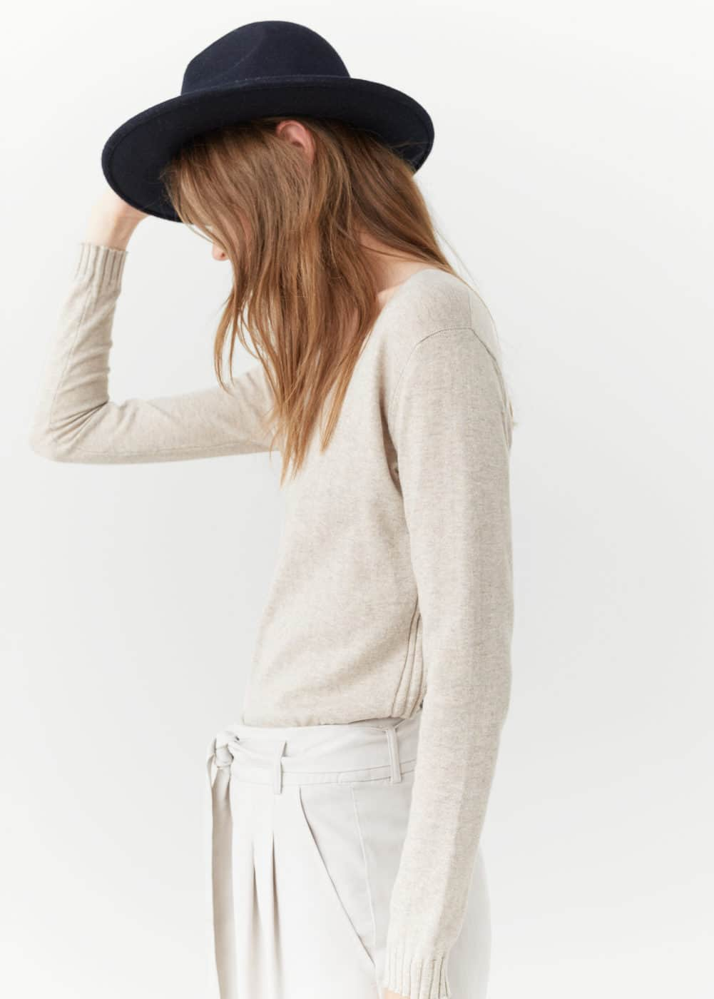 Ribbed cotton-blend sweater | MANGO