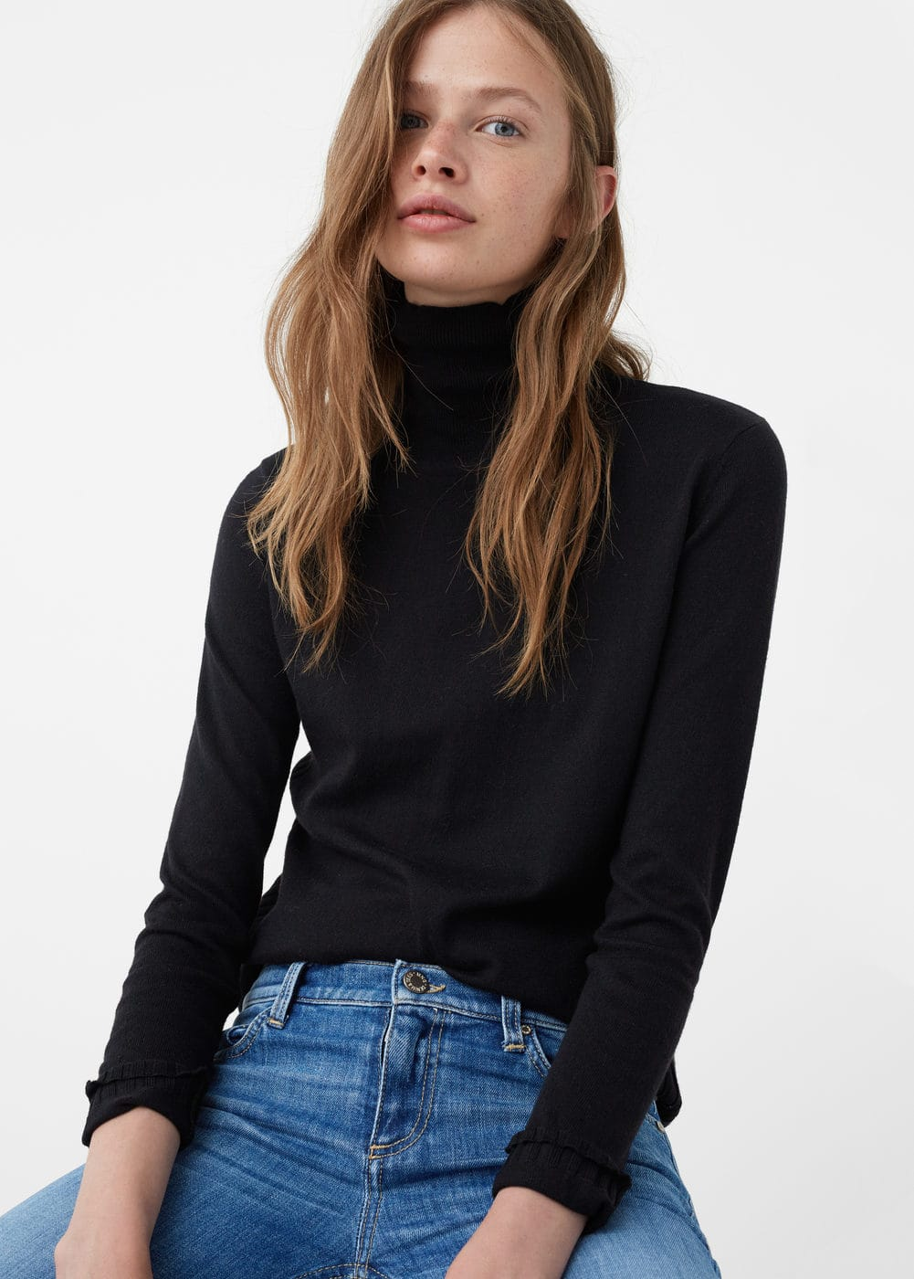 Ribbed cotton-blend sweater | MNG