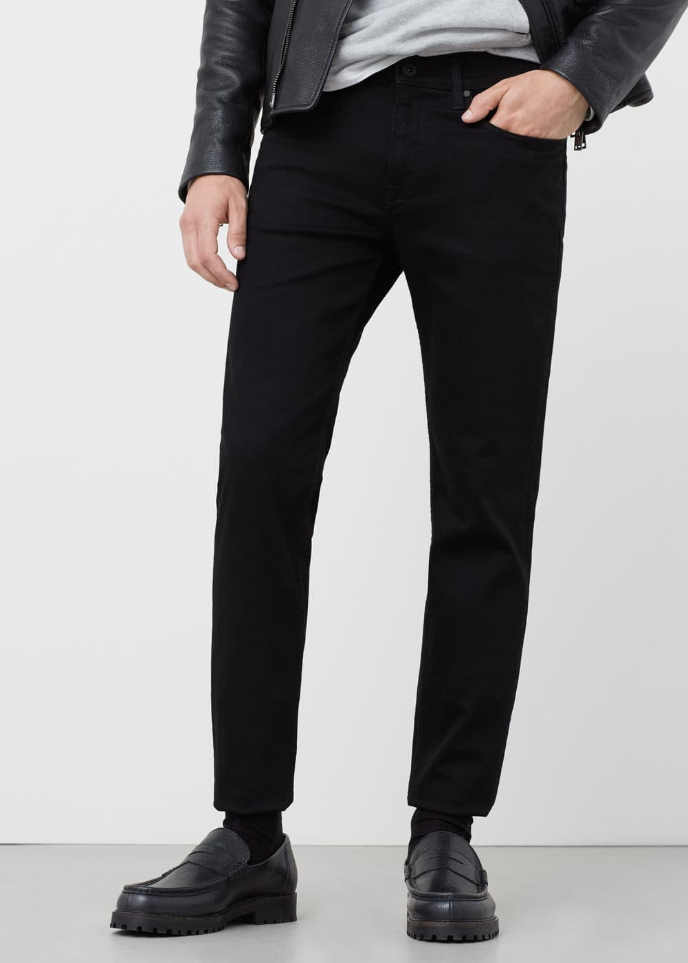 Schwarze slim fit jeans jan | MANGO MAN