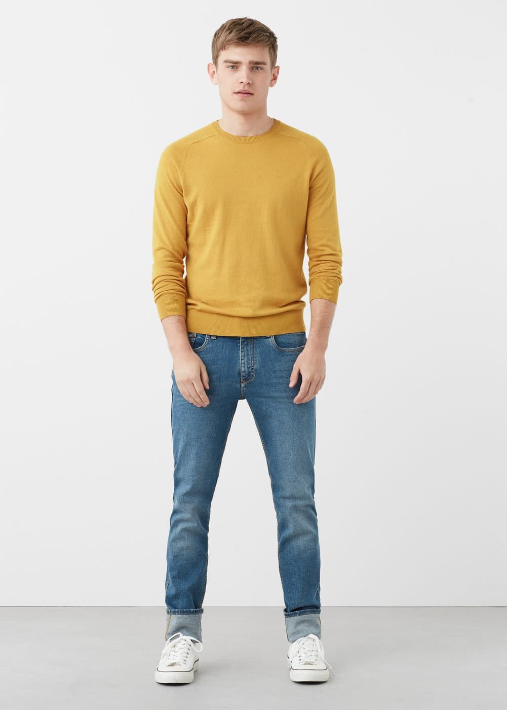Slim-fit medium wash tim jeans | MANGO