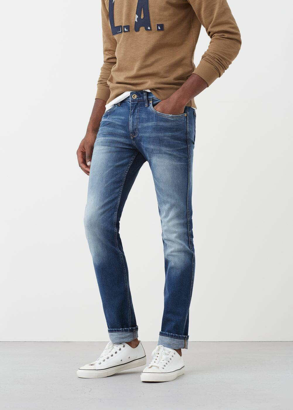 Jeans tim slim-fit lavado medio | MNG