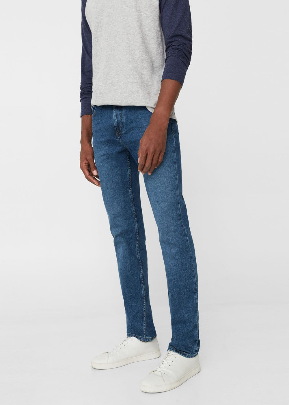 Slim-fit medium wash jan jeans | MANGO