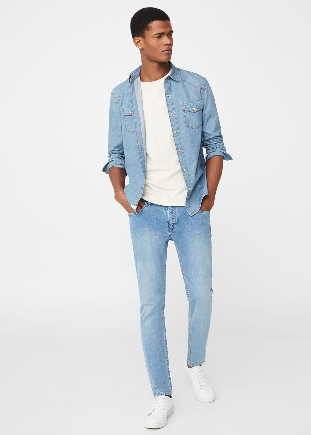 Skinny light wash jude jeans | MANGO